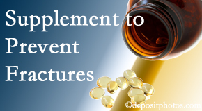 Chiropractic Solutions recommends nutritional supplementation with vitamin D and calcium to prevent osteoporotic fractures.