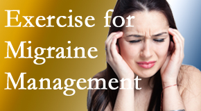 Chiropractic Solutions includes exercise into the chiropractic treatment plan for migraine relief.