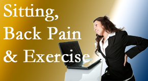 Chiropractic Solutions encourages less sitting and more exercising to combat back pain and other pain issues.