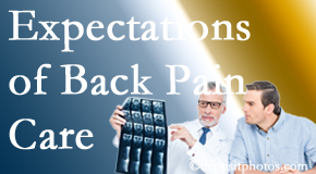 The pain relief expectations of San Jose back pain patients influence their satisfaction with chiropractic care. What's realistic?