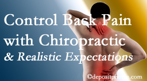 Chiropractic Solutions helps patients set realistic goals and find some control of their back pain and neck pain so it doesn't necessarily control them.