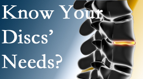 Your San Jose chiropractor thoroughly understands spinal discs and what they need nutritionally. Do you?