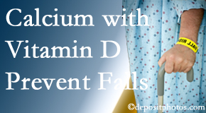 Calcium and vitamin D supplementation may be recommended to San Jose chiropractic patients who are at risk of falling.