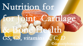 Chiropractic Solutions describes the benefits of vitamins A, C, and D as well as glucosamine and chondroitin sulfate for cartilage, joint and bone health.