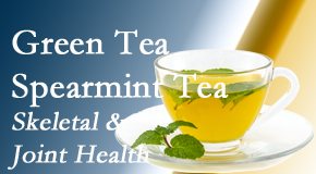 Chiropractic Solutions shares the benefits of green tea on skeletal health, a bonus for our San Jose chiropractic patients.