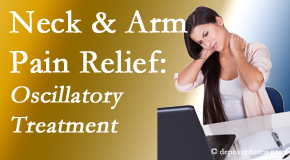 Chiropractic Solutions relieves neck pain and related arm pain by using gentle motion-based manipulation.