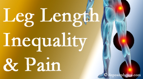 Chiropractic Solutions checks for leg length inequality as it is related to back, hip and knee pain issues.
