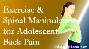 Chiropractic Solutions uses San Jose chiropractic and exercise to help back pain in adolescents.