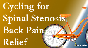 Chiropractic Solutions encourages exercise like cycling for back pain relief from lumbar spine stenosis.