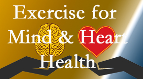 A healthy heart helps maintain a healthy mind, so Chiropractic Solutions encourages exercise.