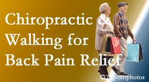Chiropractic Solutions encourages walking for back pain relief in combination with chiropractic treatment to maximize distance walked.