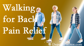 Chiropractic Solutions often recommends walking for San Jose back pain sufferers.