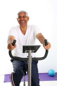 picture of man walking on treadmill