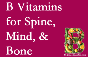 San Jose bone, spine and mind benefit from B vitamin intake and exercise.
