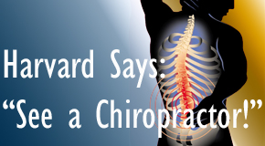 San Jose chiropractic for back pain relief urged by Harvard