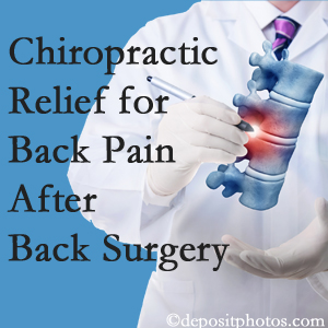 Chiropractic Solutions offers back pain relief to patients who have already undergone back surgery and still have pain.