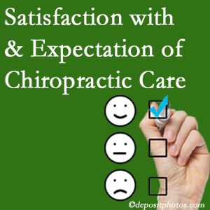 San Jose chiropractic care provides patient satisfaction and meets patient expectations of pain relief.