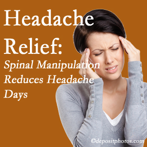 San Jose chiropractic care at Chiropractic Solutions may reduce headache days each month.