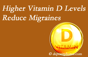 Chiropractic Solutions shares a new study that higher Vitamin D levels may reduce migraine headache incidence.