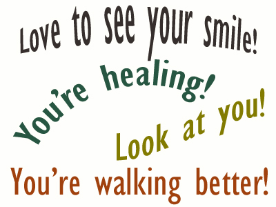 Use positive words to support your San Jose loved one as he/she gets chiropractic care for relief.